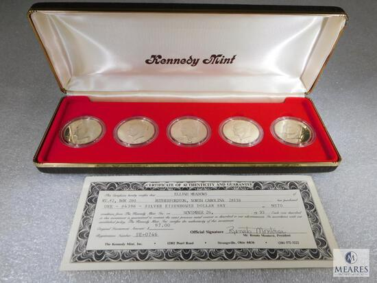 Five Coin Eisenhower Set from the Kennedy Mint - MS70 Condition