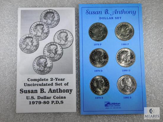 Susan B Anthony Dollar Set - Complete Two-Year Set 1979-80 PDS