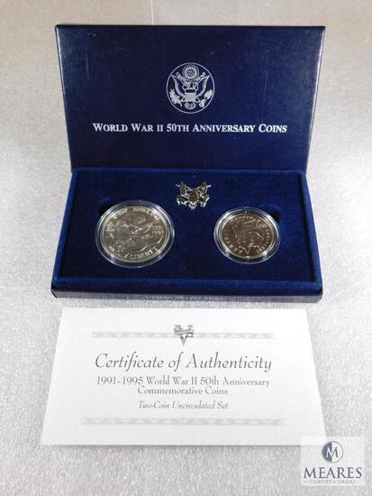 US Mint 1991-1995 World War II 50th Anniversary Two-Coin UNC Set