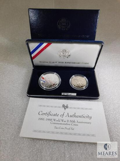 US Mint 1991-1995 World War II 50th Anniversary Two-Coin PROOF Set