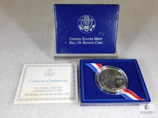 1993-S US Mint Bill of Rights Commemorative UNC Silver Dollar