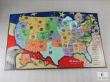 Complete US Statehood Quarter Collector Map
