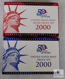 US Mint 2000 Silver Proof and Proof Coin Sets