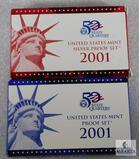 US Mint 2001 Silver Proof and Proof Coin Sets