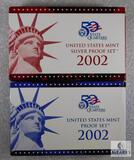 US Mint 2002 Silver Proof and Proof Coin Sets