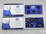 Two US Mint 50-State Proof Quarter Sets - Both 2000