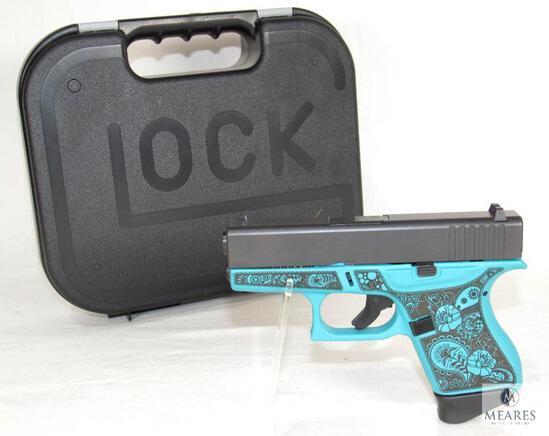 """New Glock 43 """"Tiffany & Paisley"""" 9mm Semi-Auto Pistol"""
