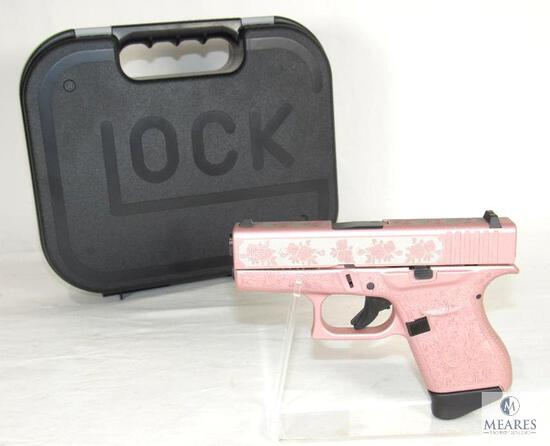 "New Glock 43 ""Glock N Roses"" Rose Gold 9mm Semi-Auto Pistol"