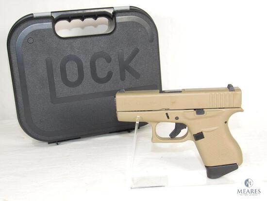 New Glock 43 9mm Luger Compact Semi-Auto Pistol Flat Dark Earth