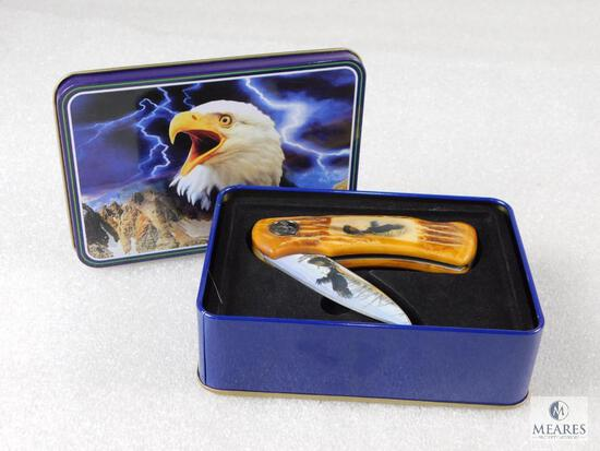 Wild Outdoors Stainless Steel with Eagle Stylized Handle and Blade