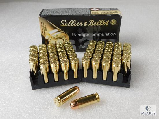 50 Rounds Sellier & Bellot Handgun Ammunition 10mm Auto JHP 180 Grain 11,7g SB10B