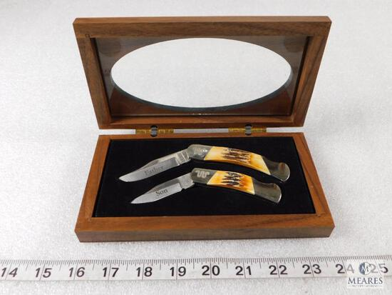 Box Set of King Ranch Father and Son Folder Knife Set