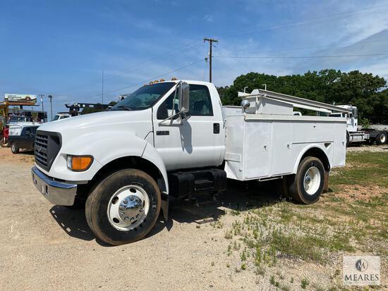 2001 Ford F-750 Service Truck, VIN # 3FDXF75R61MA86261