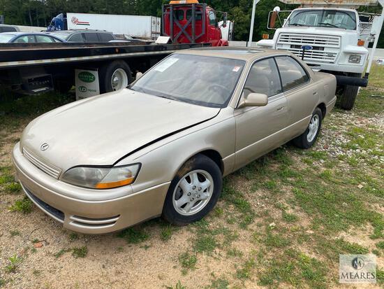 1996 Lexus ES 300 Passenger Car, VIN # JT8BF12G9T0171100 (with Title)