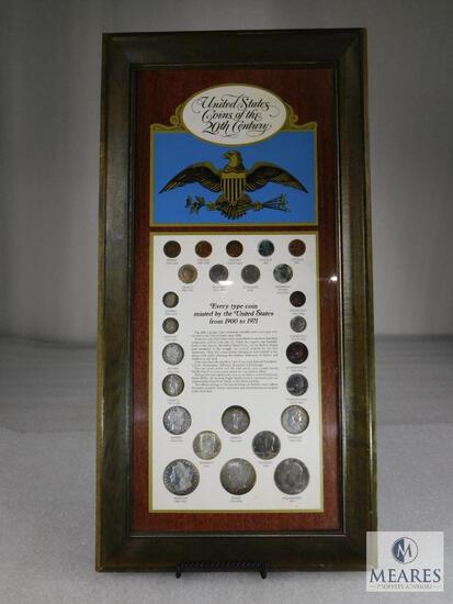 Framed Display: United States Coins of the 20th Century