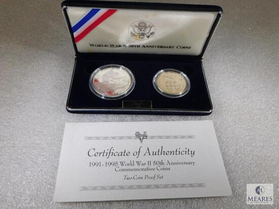 US Mint World War II 50th Anniversary Two-Coin Proof Set Commemorative
