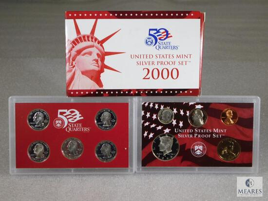 2000 US Mint Silver Proof Coin Set