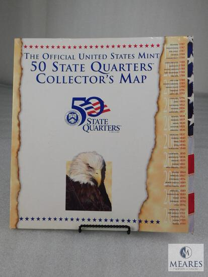 Complete 50-State Quarters Map