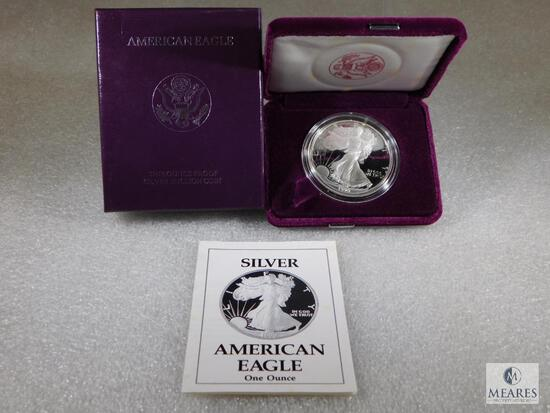 1990 US Mint Silver Eagle One-Dollar Proof Coin