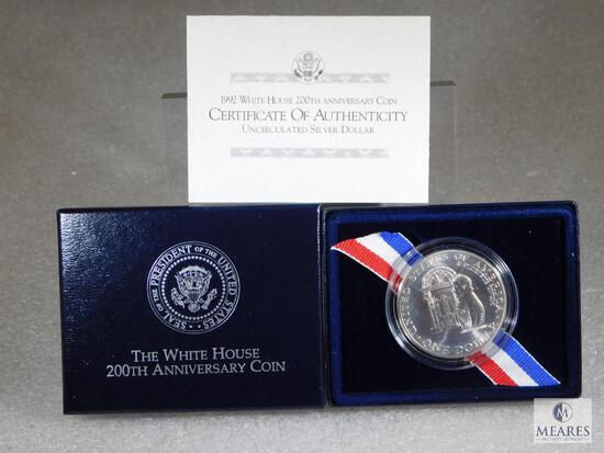 US Mint 1992 White House 200th Anniversary UNC Silver Dollar