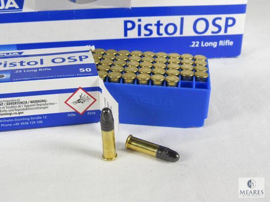 500 Rounds Lapua OSP (Olympic Sport Pistol) .22 LR Rimfire Ammo
