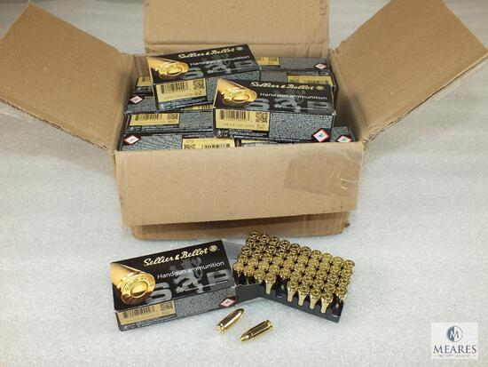 1000 Rounds Sellier And Bellot 9mm Ammo. 124 Grain FMJ (Full Case)