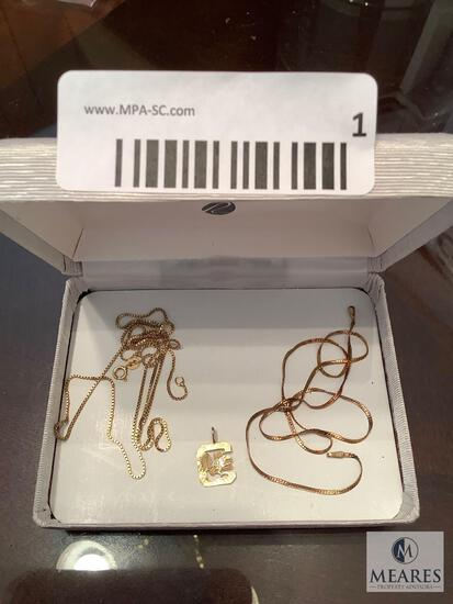 Lot of Mixed 14k Jewelry Chains and Pendant