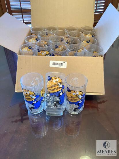Lot of 20 Vintage Officer Big Mac McDonald's Drinking Glasses