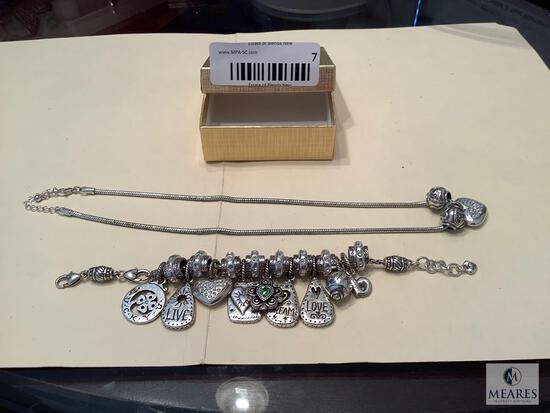 Charm Bracelet and Charm Necklace
