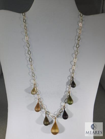 Sterling Open Link Modernist Necklace.