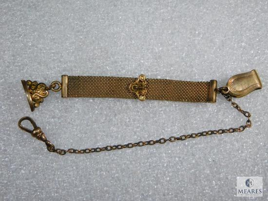 Antigue Victorian Watch Fob - Gold Plated