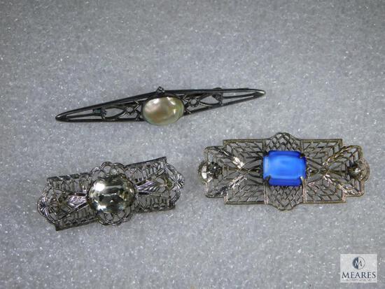 Lot Of Three Vintage Pins.