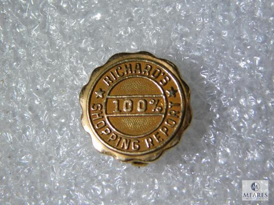 10K Yellow Gold 100% Richard's Shopping Report Pin