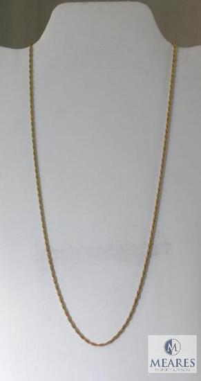 14K Yellow Gold Rope Necklace.
