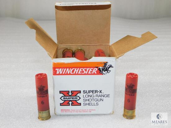 25 Rounds Winchester Super X Long Range 28 Gauge 1 oz #6 Shot Shells