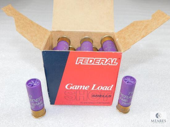 25 Rounds Federal 16 Gauge 1 oz 7-1/2 Shot Shotgun Shells