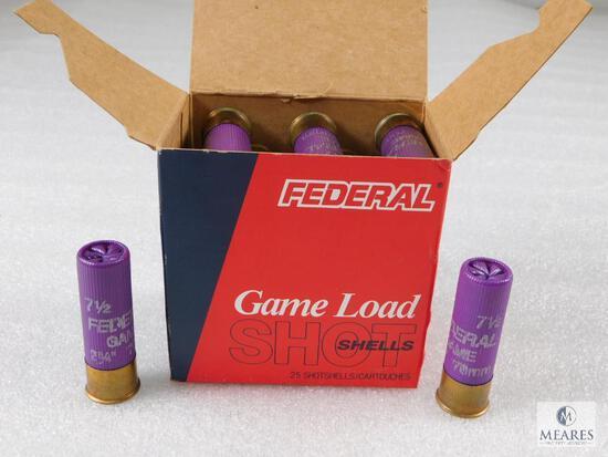 25 Rounds Federal 16 Gauge 1 oz 7-1/2 Shot Shells