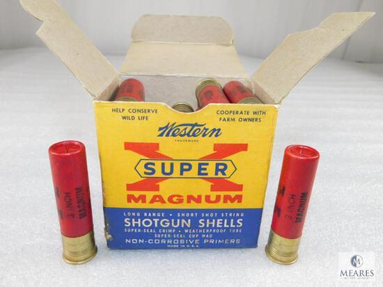 "25 Rounds Western Super X 20 Gauge 3"" Mag in Vintage Box Cardboard Shells"