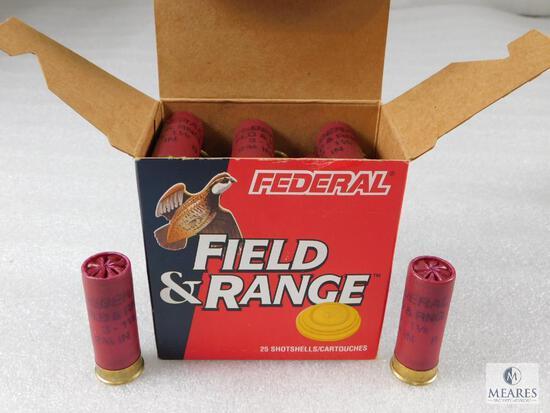 "25 Rounds Federal 12 Gauge Field & Range 8 Shot 1-1/8 oz 2-3/4"" Shells"