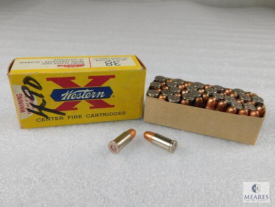 50 Rounds Winchester .38 S&W 145 Grain Ammo