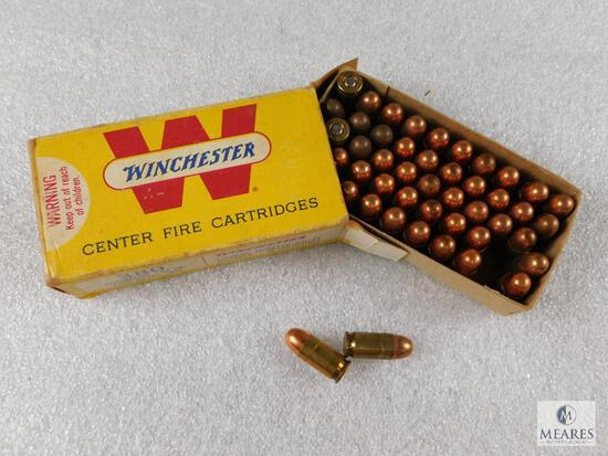 50 Rounds Winchester .380 Auto 95 Grain Full Metal Case Ammo