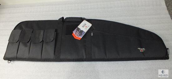 """New TAC Six 46"""" Tactical Scoped Rifle Case With Mag Pouches"""