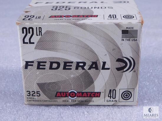 325 Rounds Federal 22LR AutoMatch 40 Grain Target