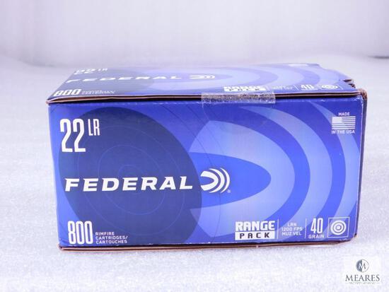 800 Round Range Pack Federal 22LR LRN 40 Grain Target