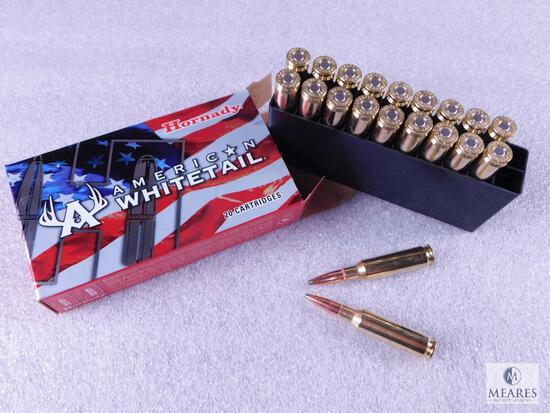 20 Rounds Hornady American Whitetail 6.5 Creedmoor Ammo. 129 Grain SP
