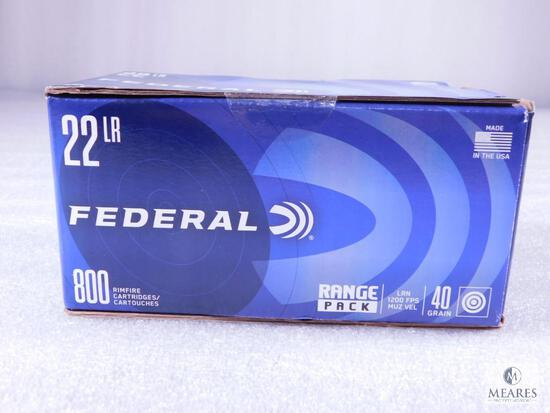 800 Rounds Federal Range Pack .22 Long Rifle Ammo. 40 Grain