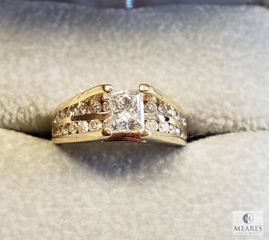 14KT Yellow Gold Radiant Cut Diamond Ring