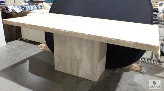 Large Heavy Marble Dining Room Table - Solid!