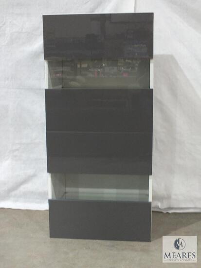 "Ikea ""Besta Tofta"" Contemporary Storage Cabinet with Lights"