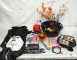 Lot of Assorted Halloween Costumes and Party Items